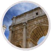 Arch Of Septimius Severus Round Beach Towel
