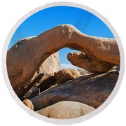 Arch Rock - Joshua Tree National Park  Round Beach Towel