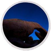 Arch Rock Starry Night Round Beach Towel