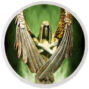 Archangel Azrael Round Beach Towel