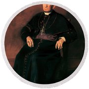 Archbishop William Henry Elder Round Beach Towel