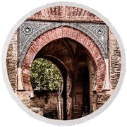 Arched  Gate Round Beach Towel