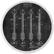 Archery Hunting Arrows Patent Round Beach Towel