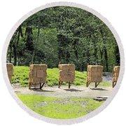Archery Range Round Beach Towel