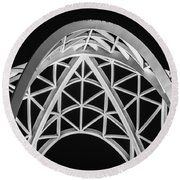Arches And Angles 2 Round Beach Towel