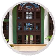 Arches And Doors At The Biltmore Round Beach Towel