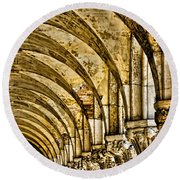 Arches At St Marks - Venice Round Beach Towel
