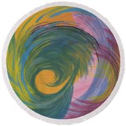 Arches  Swirls Round Beach Towel