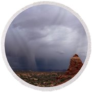 Arches National Monument Moab Round Beach Towel
