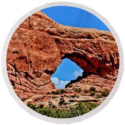 Arches National Park Painting Round Beach Towel