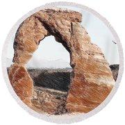 Arches National Park-utah Round Beach Towel