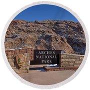 Arches National Park Utah Round Beach Towel