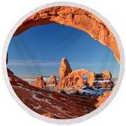 Arches Sandstone Frame Round Beach Towel