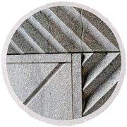 Architectural Detail 2 Round Beach Towel
