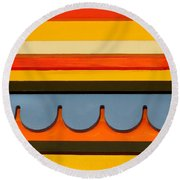 Architectural Molding Round Beach Towel