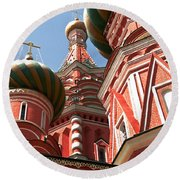 Architecture Abstract Round Beach Towel