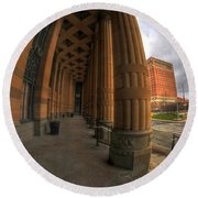 Architecture And Places In The Q.c. Series 03 City Hall Round Beach Towel