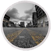 Architecture And Places In The Q.c. Series Delaware And Chippewa Round Beach Towel