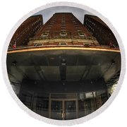 Architecture And Places In The Q.c. Series The Statler Towers Round Beach Towel