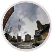 Architecture And Places In The Q.c. Series War Of Architecture  Round Beach Towel