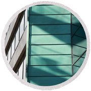 Architecture And Shadows Round Beach Towel