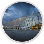 architecture by Calatrava Round Beach Towel