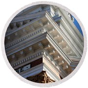 Architecture In The Morgan County Court House Round Beach Towel