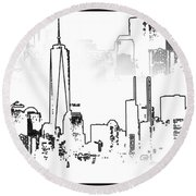 Architecture Of New York City Round Beach Towel by Dan Sproul