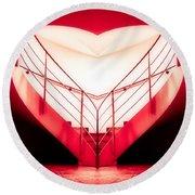 architecture's valentine - redI Round Beach Towel