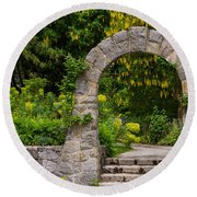 Archway To The Secret Garden Round Beach Towel