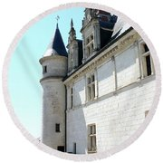 Archway View Chateau Amboise Round Beach Towel