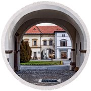 Archways Round Beach Towel