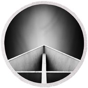 Arctic Cathedral Round Beach Towel