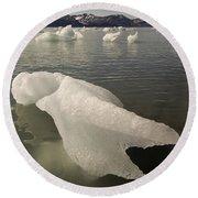 Arctic Ice Floe Round Beach Towel