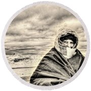 Arctic Indiana Round Beach Towel