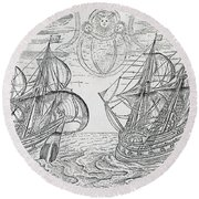 Arctic Phenomena From Gerrit De Veer S Description Of His Voyages Amsterdam 1600 Round Beach Towel