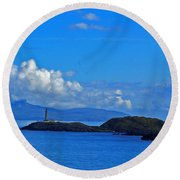 Ardnamurchan Lighthouse 4 Round Beach Towel