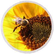 Are You Buzzing? Round Beach Towel
