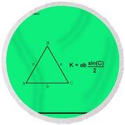 Area Of An Isosceles Triangle Green/black Round Beach Towel