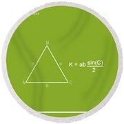 Area Of An Isosceles Triangle Lime/white Round Beach Towel