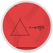 Area Of An Isosceles Triangle Red/black Round Beach Towel