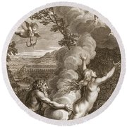 Arethusa Pursued By Alpheus And Turned Round Beach Towel