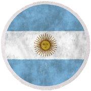 Argentina Flag Round Beach Towel
