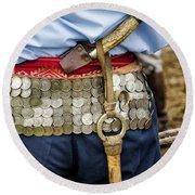Argentina Gaucho Coin Belt Round Beach Towel