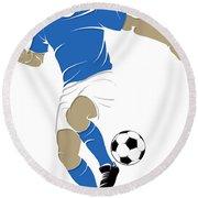 Argentina Soccer Player1 Round Beach Towel