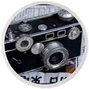 Argus C3 Brick Camera Round Beach Towel