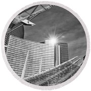 Aria Sun - Aria Resort And Casino At Citycenter In Las Vegas Round Beach Towel