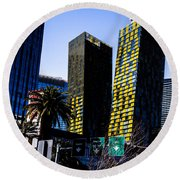 Aria Towers Round Beach Towel