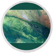 Ariel View Of Venus Round Beach Towel