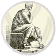 Aristotle Round Beach Towel
